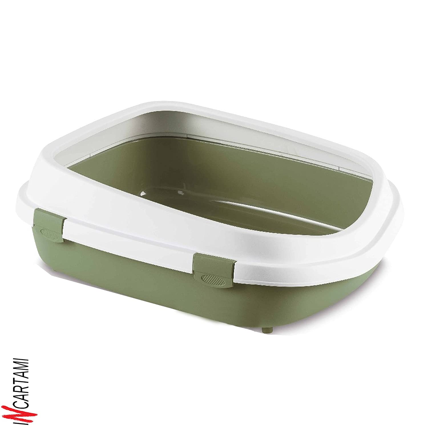 Stefanplast 4-96852 WC Gatos Queen, 55 x 24.5 x 71 cm, Color Blanco y Verde Pastel: Amazon.es: Productos para mascotas