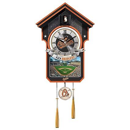 mlb-licensed Baltimore Orioles cuco reloj de pared con pájaro con ...