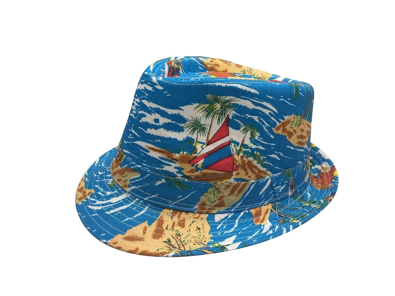ACVIP Mens Womens Hawaiian Style Beach Sun Cap Fedora Trilby Hat