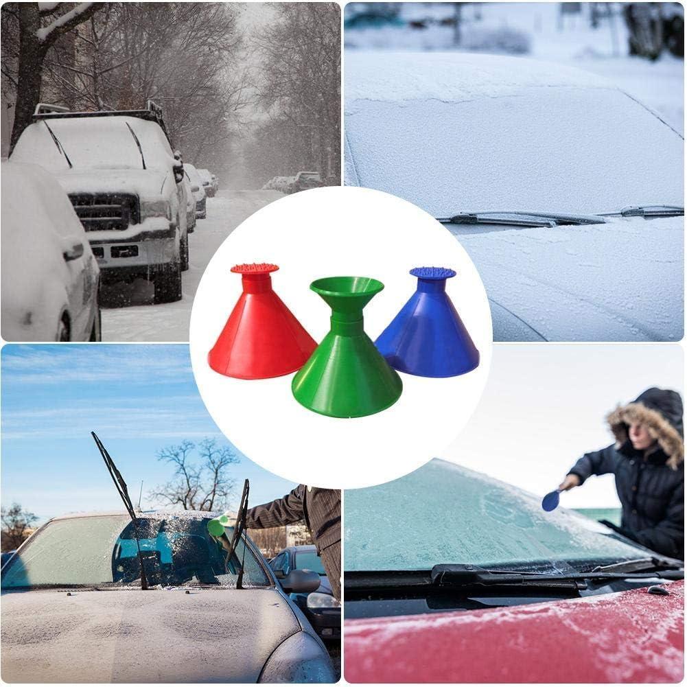 Upgrade 2-in-1 Magic Ice Scraper,Windshield Snow Cover Ice Removal Wiper,Magic Funnel Cone Snow Removal Tool for Car SUV Truck Prettywan