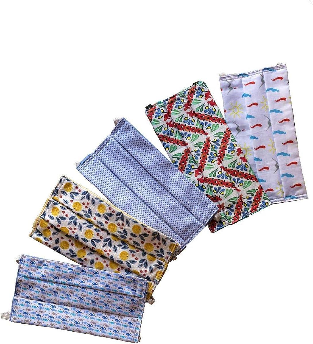 Centopercento Camicie Mascherine Lavabili Donna Uomo Cotone e Tasca filtro 3 PZ