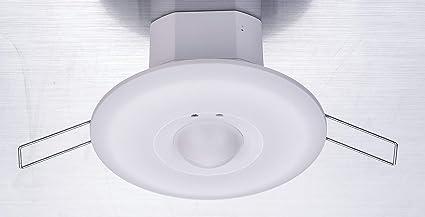 ZEYUN Detector de movimiento ZEYUN HF, sensor de movimiento de microondas, interruptor empotrado de