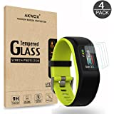 (Pack of 4) Tempered Glass Screen Protector for Garmin Vivosport, Akwox [0.3mm 2.5D High Definition 9H] Premium Clear Screen Protector for Garmin Vivosport