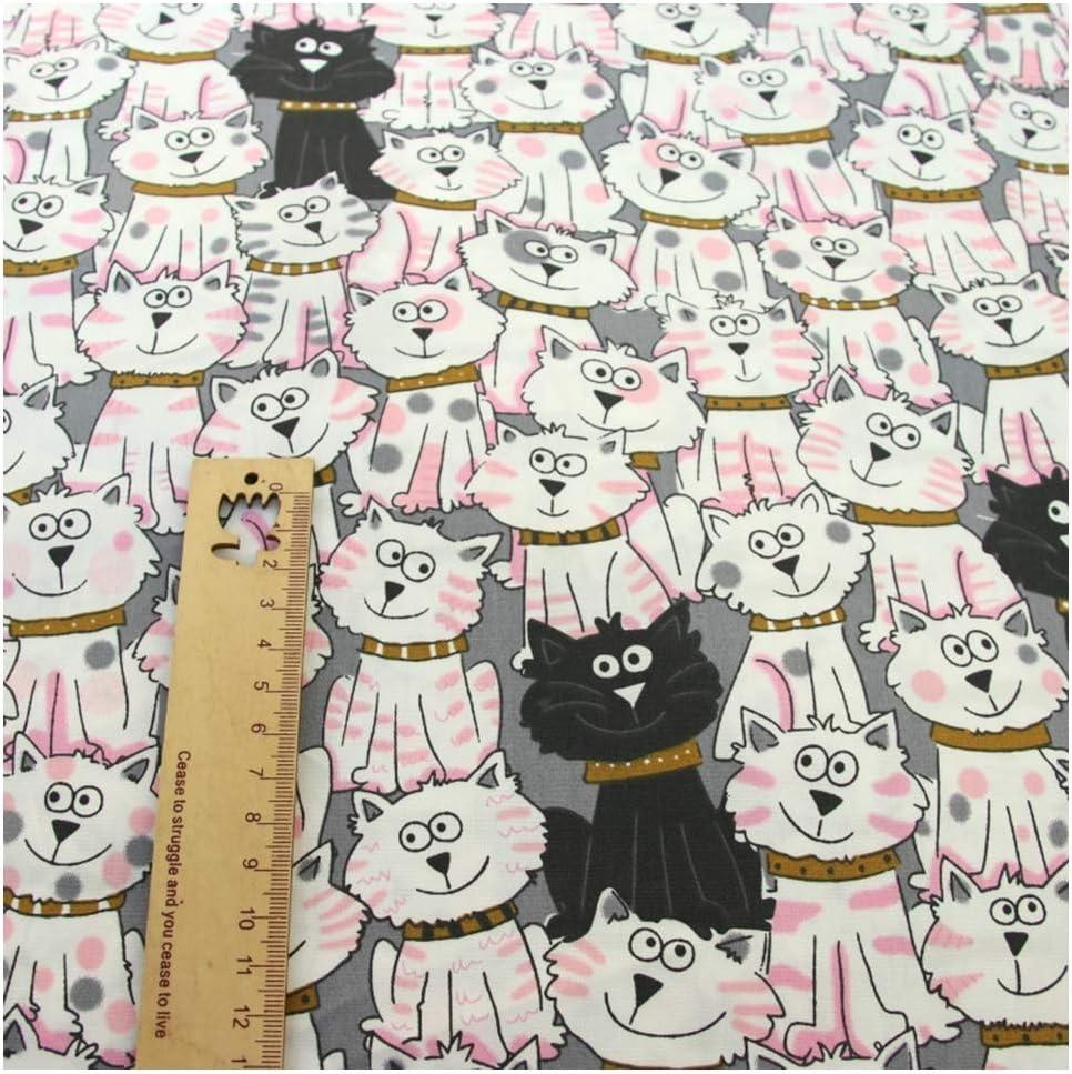 Aqiong Jubaren7 Los Gatos de Dibujos Animados Impresos Telas 100 ...