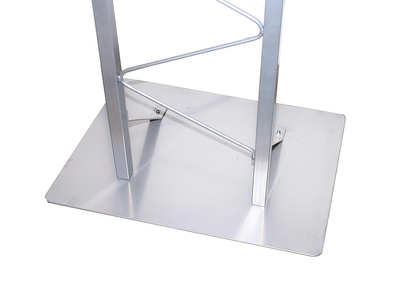 Silver 19627 19627! FixtureDisplays 25 Single Truss Podium for Floor Steel