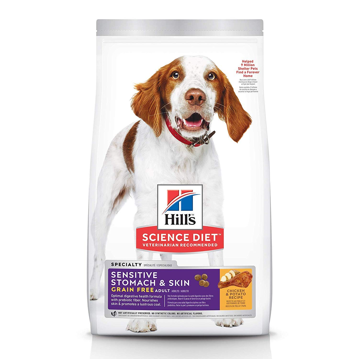 Hill's Science Diet Dry Dog Food, Adult, Sensitive Stomach & Skin, Chicken Recipe