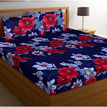 Teyja Collections Soft & Skin Friendly Beautifully Design Printed Double Bedsheet with 2 Pillow Covers