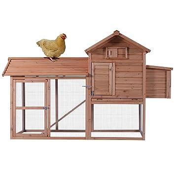 mcombo 0311l Deluxe Large pollo aves gallinero Hen House gallinero jaula: Amazon.es: Jardín