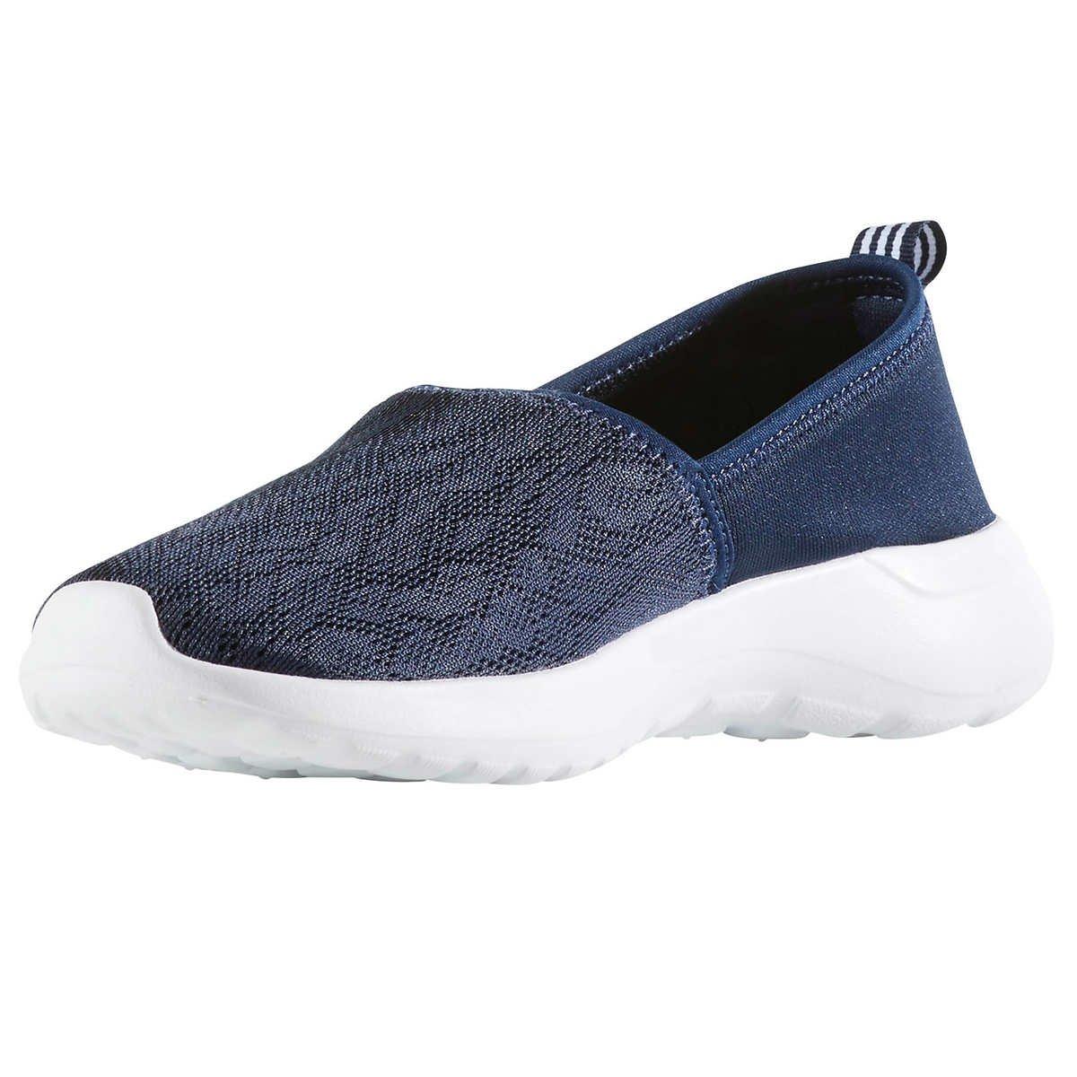 adidas Women Cloudfoam Lite Racer Slip On Shoes, Navy/White, 8.5 B(M) US