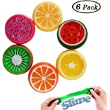 Magic Crystal Soft Slime, Swallowzy 6PCS Gelée Transparente Slime Crystal Fruit Clay Rubber Mud Intelligent Hand Gum Plasticine Slime Jouets pour Enfants - Kids Perfect Ideal Filler Gift Present - Stress Reliever Putty Slime Fluffy Toy