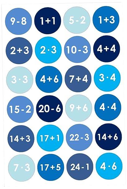 Papierdrachen 24 Adventskalender Zahlen Aufkleber Blau Nr 9 Sticker Zum Basteln Und Dekorieren