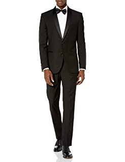 Nick Graham Mens Slim Fit Shawl Lapel Tuxedo