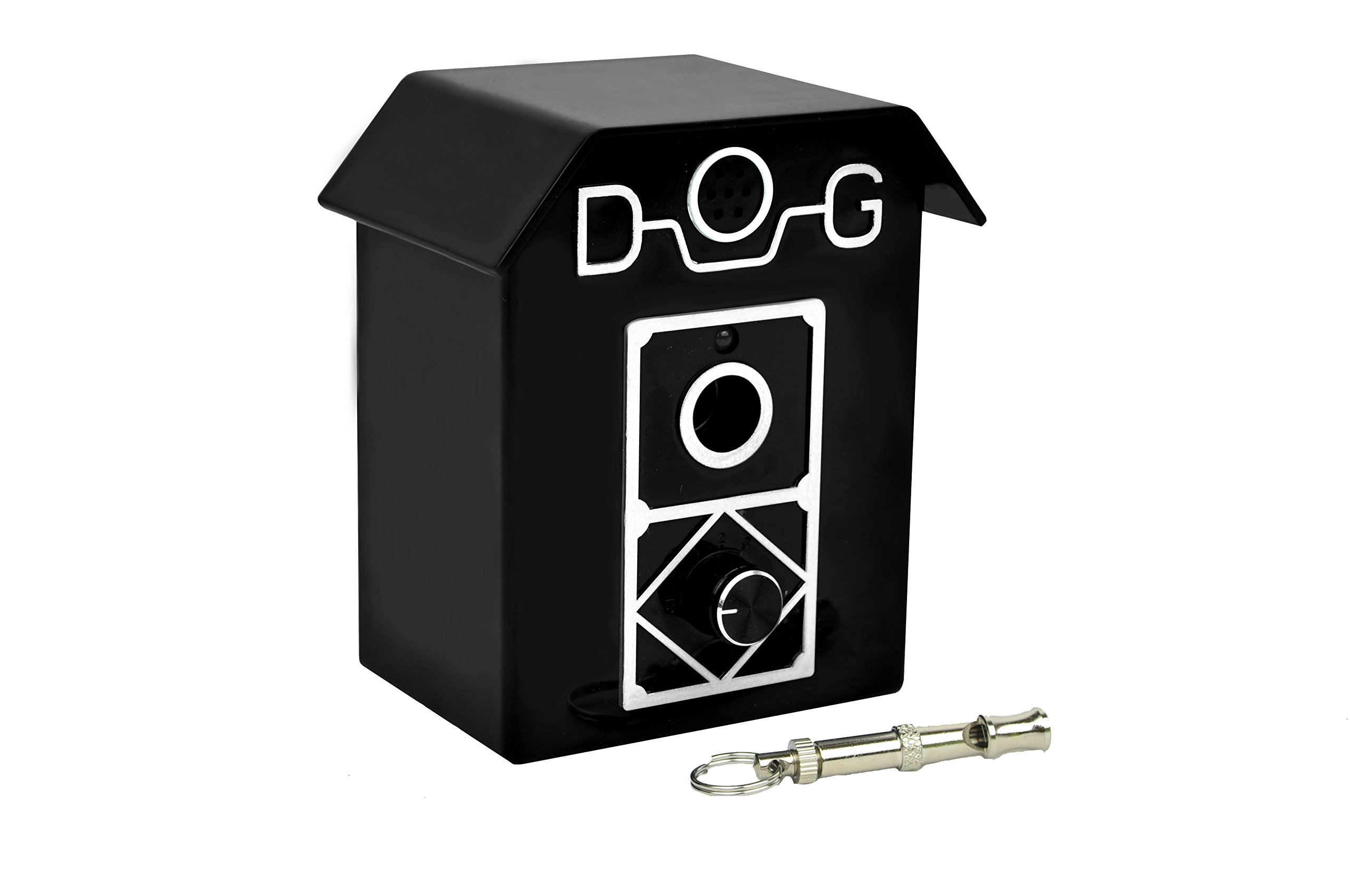 Ultrasonic Dog Bark Control Controller and Deterrent, Works Great Indoor and Outdoor, Includes FREE Anti Bark Dog Whistle - Effective Dog Behavior Training Tool, Up to 50 Feet Radius