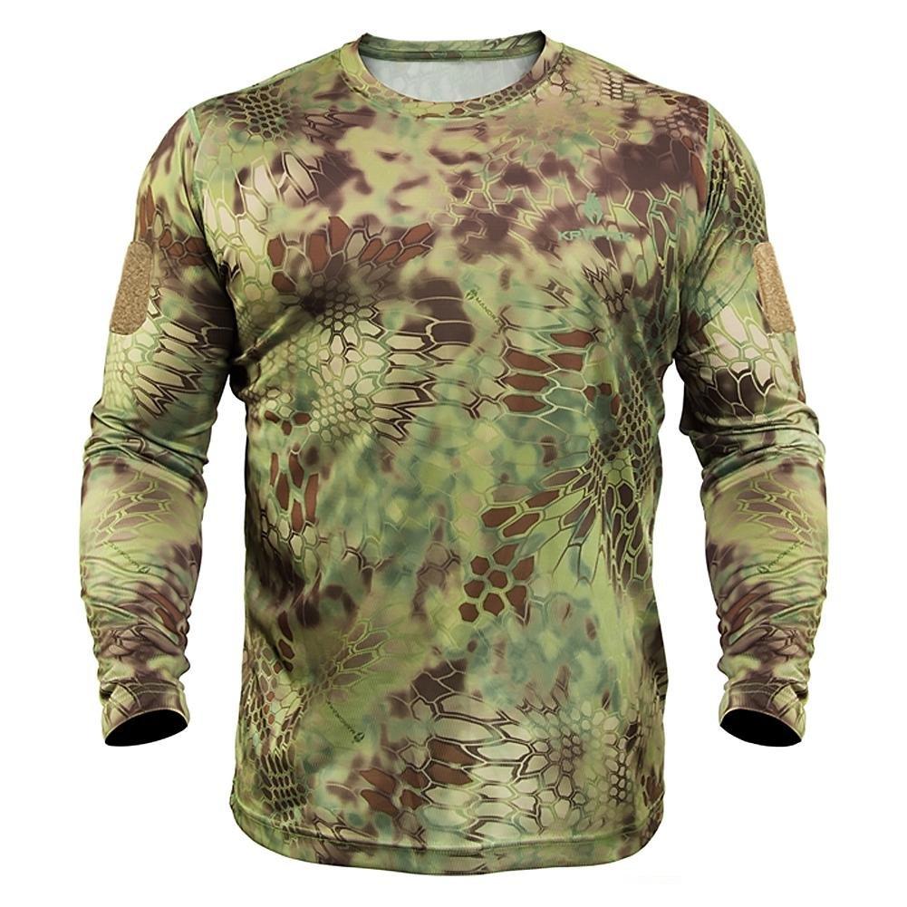 Kryptek Stalker Long Sleeve Camo Hunting Shirt (Stalker Collection), Mandrake, M