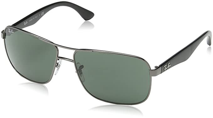 9d0d031faa3 Ray-Ban Square Sunglasses (Metallic) (RB3516