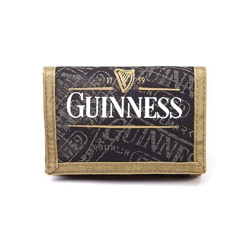 Bioworld Cartera (cierre de velcro), diseño con la marca Guinness, color negro: Amazon.es: Ropa y accesorios