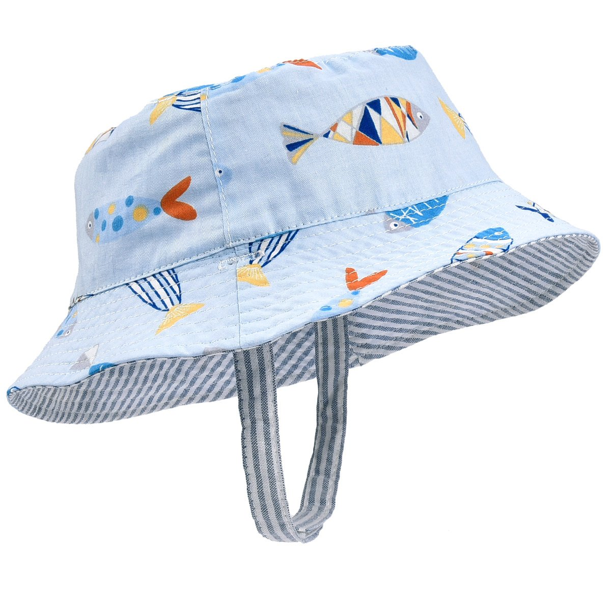 Toddler Kids Summer Sun Hat Boys Girls Reversible Cotton Bucket Hat Spring Hat for 6M-4T