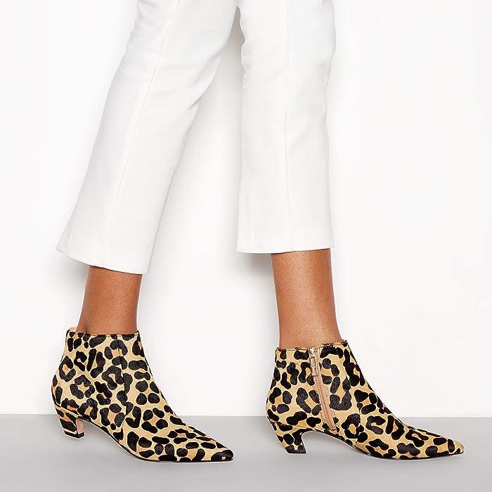 9816eda8d10 J By Jasper Conran Womens Multicoloured Leopard Print  Jitty  Kitten Heel  Boots. Back. Double-tap to zoom