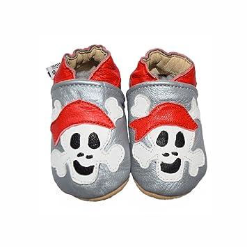Suaves Zapatos De Cuero Del Bebé Santa 0-6 meses uAFgyj0F