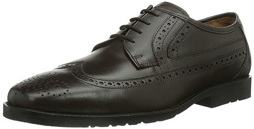 Manz Mali - Zapatos de cordones, color Schwarz 001, talla 47