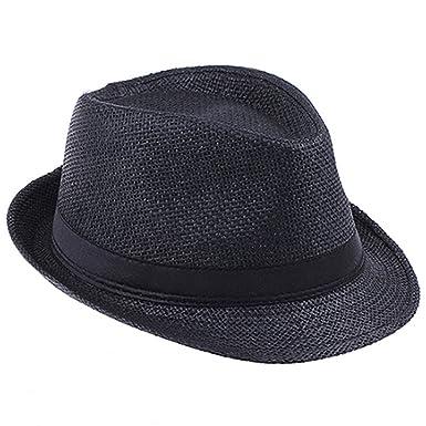 Fashion Handwork Women Summer Straw Sun Hat Boho Beach Fedora Hat Sunhat  Trilby Men Panama Hat 07d478852d2d