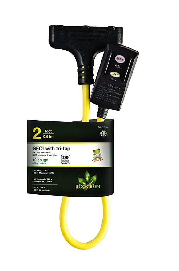 Go Green Power GG-12402 Go Green Power 2 Portable Ground Fault Interrupter (GFCI), Lighted End - - Amazon.com