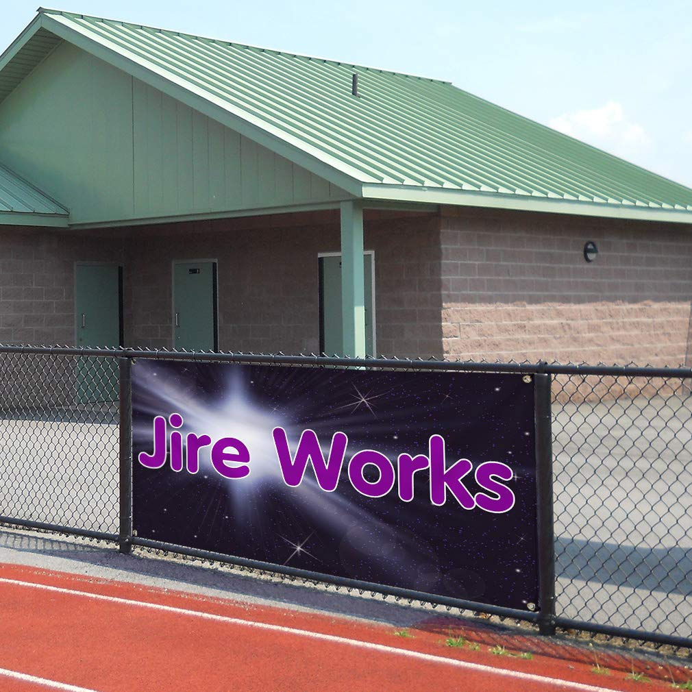 32inx80in 6 Grommets Multiple Sizes Available Vinyl Banner Sign Jire Works Retail Fireworks Outdoor Marketing Advertising Lavender Set of 2