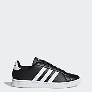 adidas Men's Grand Court Sneaker, Core Black/White, 11