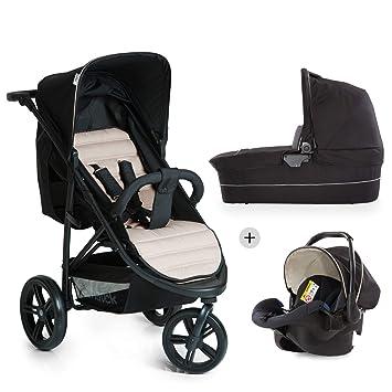 Hauck Rapid 3 Plus Trio Set - Carro deportivo 0 meses hasta 25 kg, coche de bebes 3 piezas de capazo, sillita adaptable a base isofix, ligero, ...
