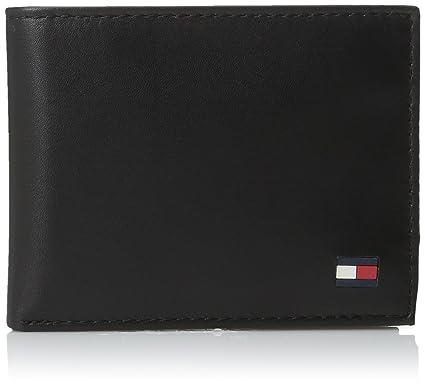 New Mens Tommy Hilfiger Edge Stitch Bovine Leather Wallet Wallets