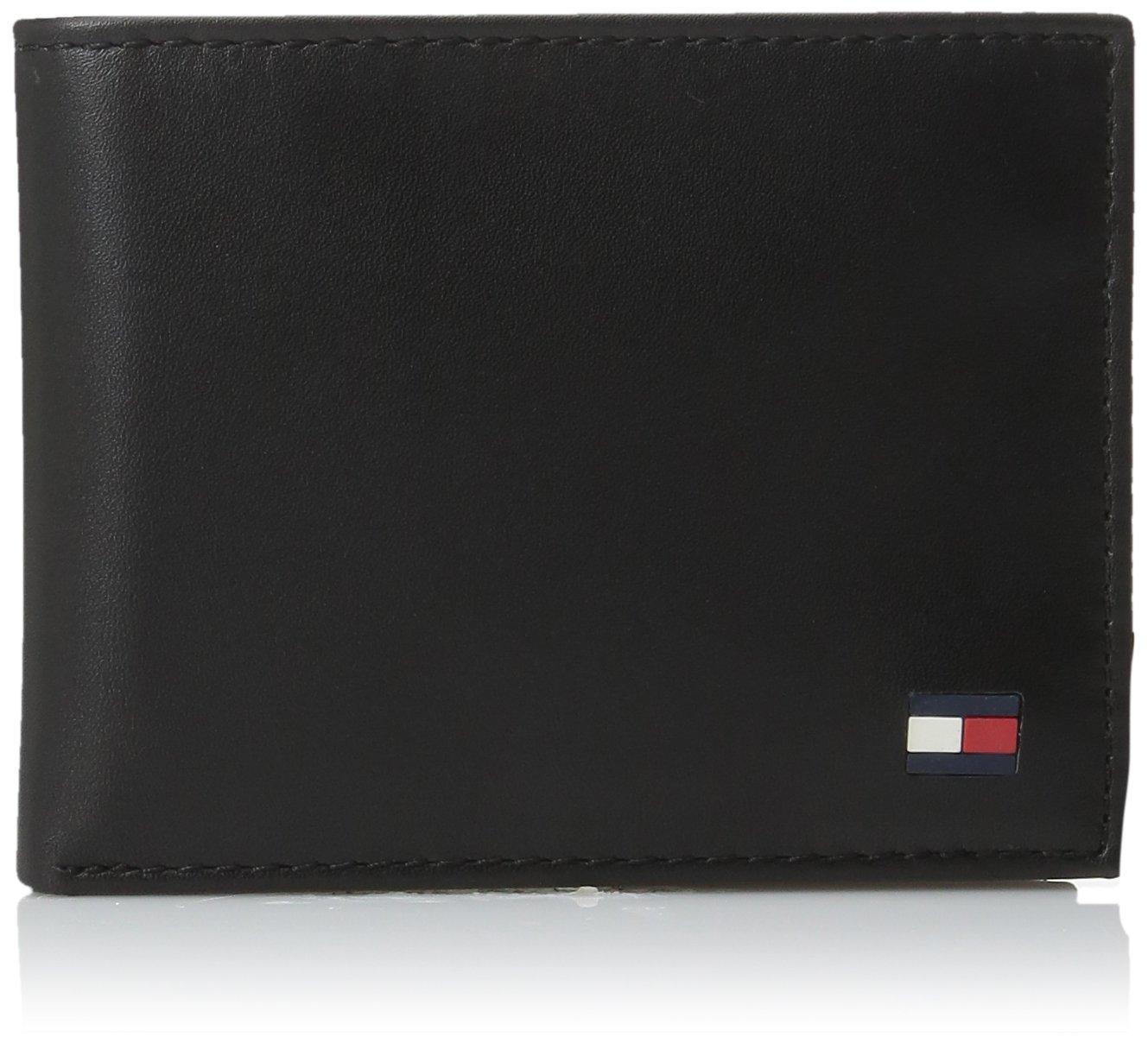 Tommy Hilfiger Men's Dore Passcase Billfold Wallet,Black,One Size