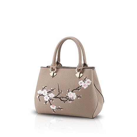 5de82fe02c7 NICOLE&DORIS Casual Sweet Handbag Women Crossbody Shoulder Bag Purse Tote  Commuter PU Leather Khaki