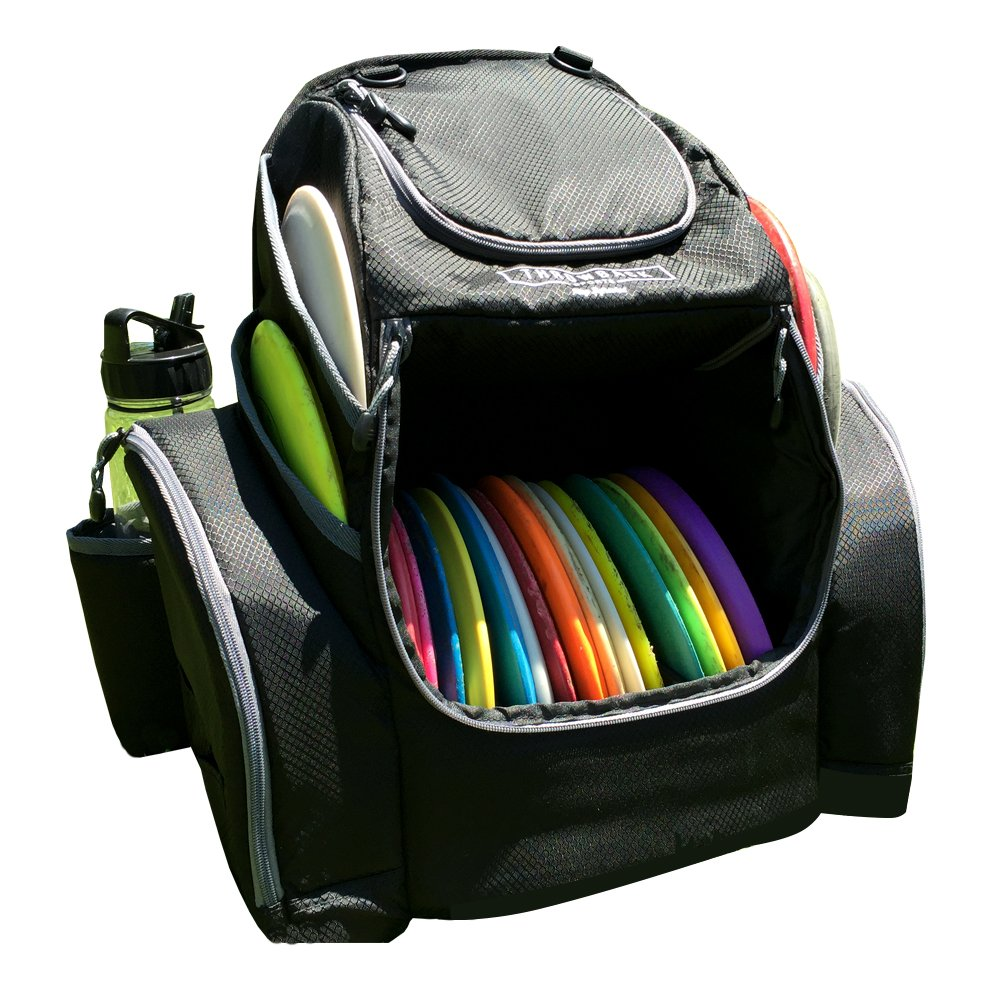 The Throwback Pack 2.0 - Disc Golf Backpack With Dual Coolers - Frisbee Disc Golf Bag That Holds 20-25 Discs by Throwback Sports