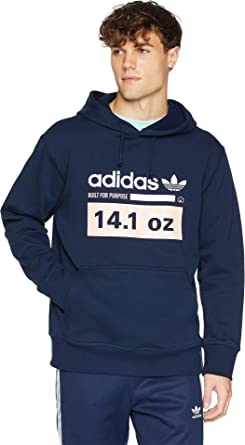 e729de6a adidas Originals Men's Kaval Pullover Hoodie Collegiate Navy/Haze Coral/Cloud  White Medium