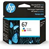 Original HP 67 Tri-color Ink Cartridge | Works with HP DeskJet 1255, 2700, 4100 Series, HP ENVY 6000, 6400 Series | Eligible