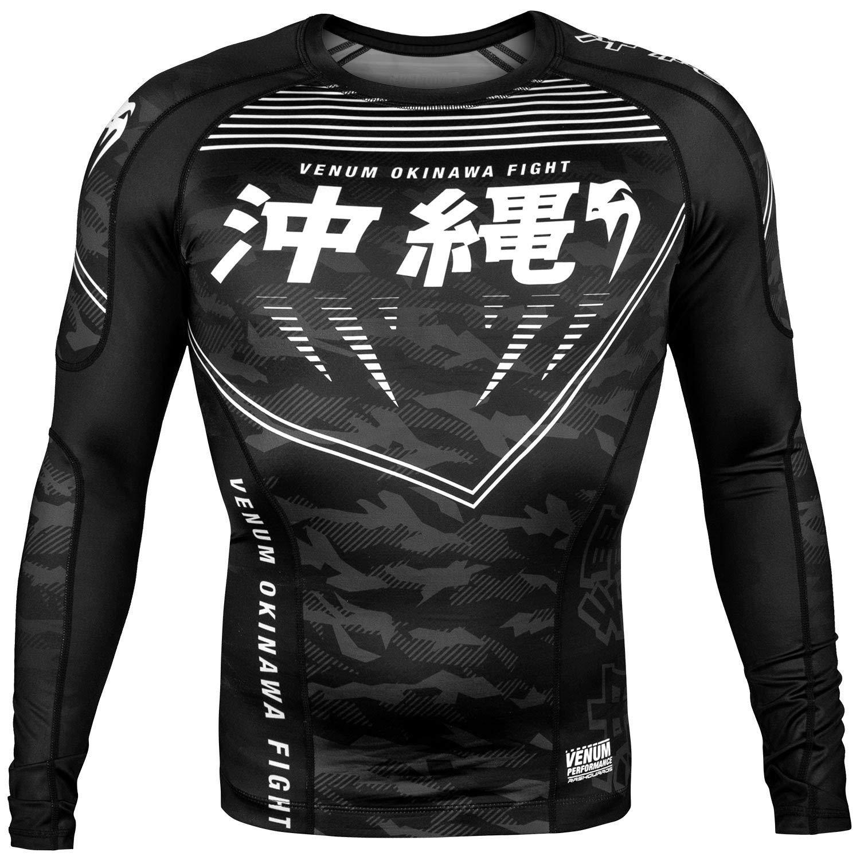 Venum MMA Okinawa Long Sleeve Rash Guard - Black (Large) by Venum