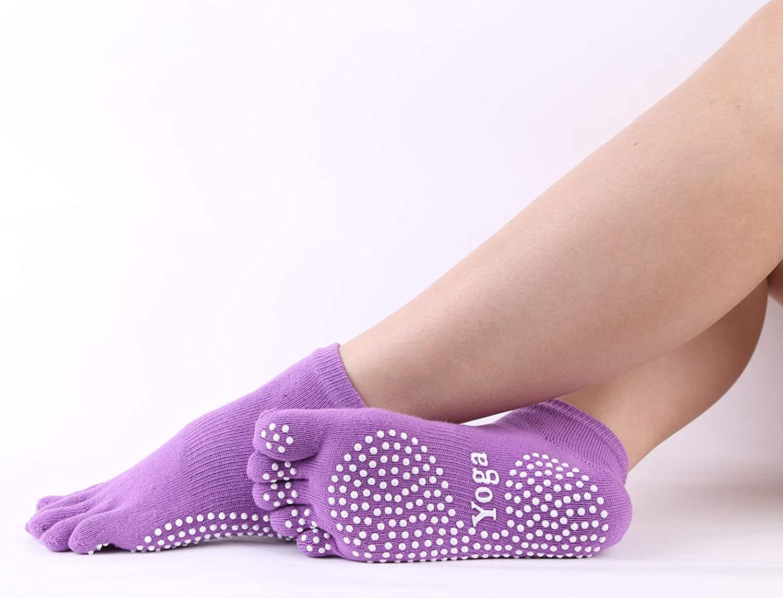 Ideal for Dance Pilate Ballet Barre Floor Studio Hospital Size 5.5-8.5 Black Yoga Socks Gloves Set Cotton with Grips Non Skid Ideal for Dance Pilate Ballet Barre Home Studio Size 5.5-8.5 MCJ Maple