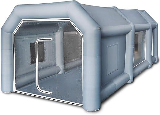 Husuper Cabina de Pintura Inflable 6 x 3 x 2.5 M Carpa Hinchable para Coche Tienda Inflable Cabina de Estacionamiento de Pintura Tienda Inflable de Campaña Cabina Inflable para Pintar el Coche: