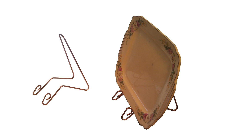 Bill Watson Enterprises Plate Stand Copper Colored Medium Sized