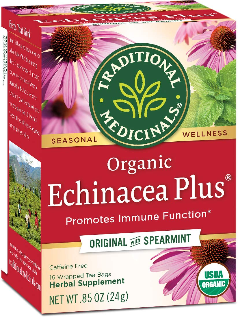 Traditional Medicinals Organic Echinacea Plus Seasonal Tea, 16 Tea Bags (Pack of 6) by Traditional Medicinals