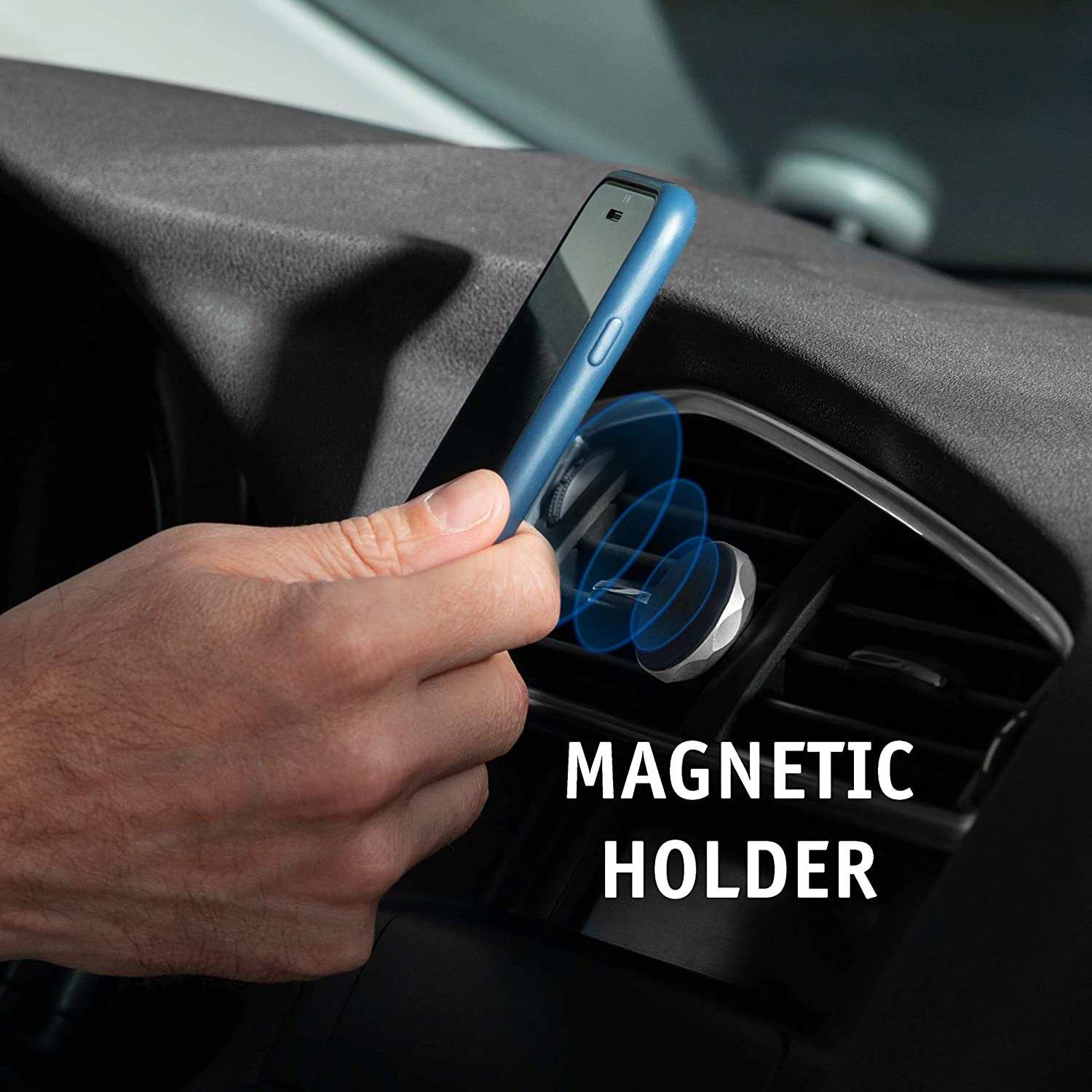 Vent Magnet 360 Degrees Easily Adjustable with Strong Magnets Car Mount for iPhone Samsung Huawei Xiaomi Google Pixel Cellphone Holder for Car Black Car Magnetic Phone Holder by MG Canada