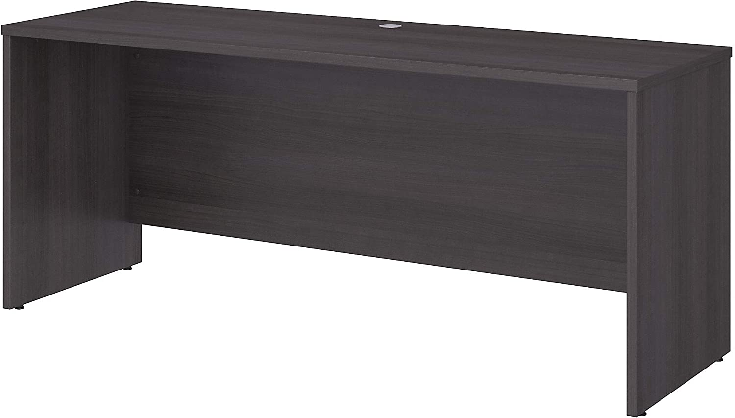 Bush Business Furniture Office 500 L Shaped Executive Desk with Drawers, 72W, Storm Gray