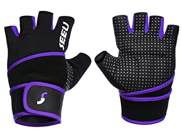 SEEU Weight Lifting Gloves with 44cm Wrist Support for Women Men 5 Colours XS-XL: Amazon.es: Deportes y aire libre