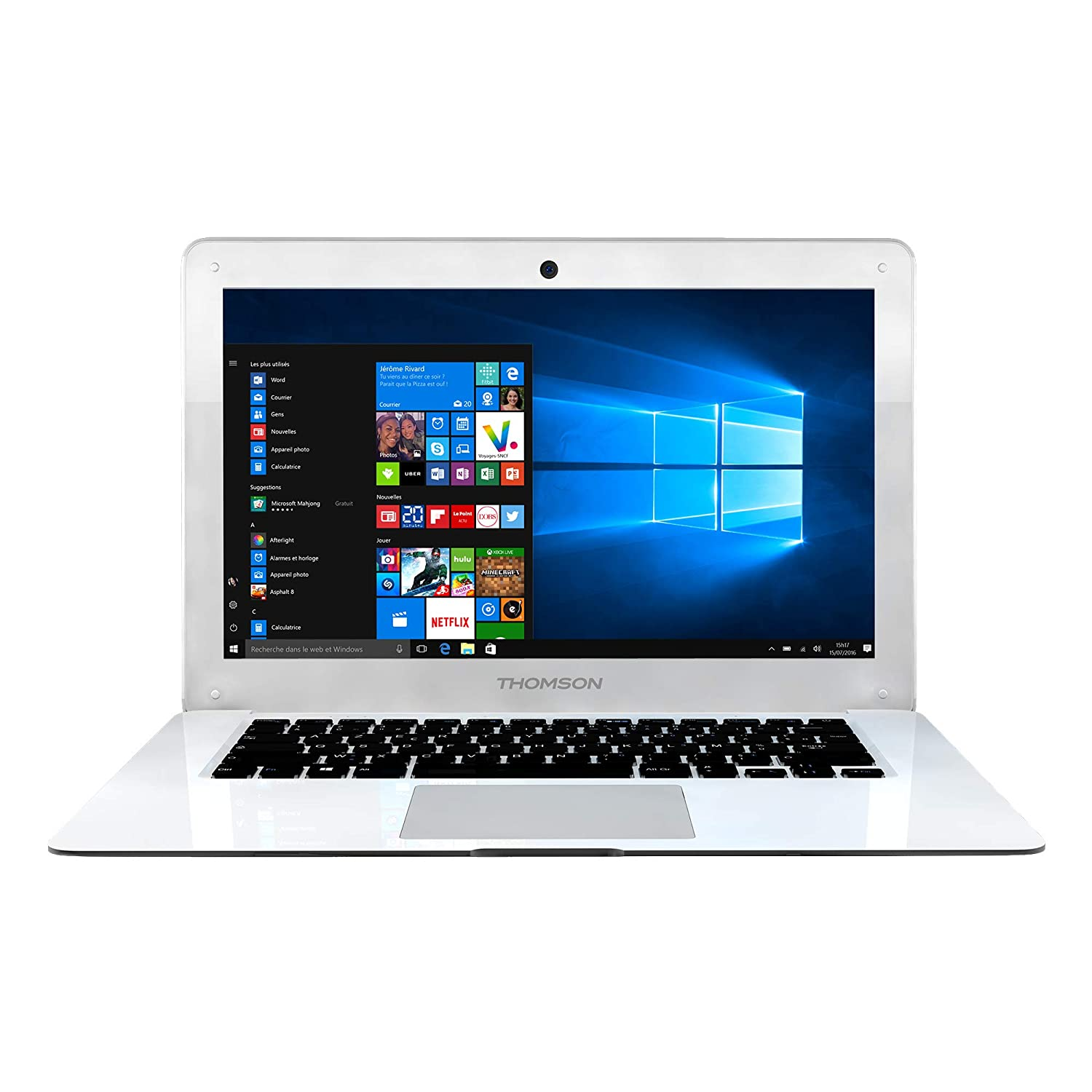 Thomson NEO14A-WH32N Ordinateur Portable 14,1' Blanc (Intel_Atom, 32 Go de RAM, Windows 10) Clavier AZERTY Franç ais 1 Blanc (Intel_Atom Windows 10) Clavier AZERTY Français