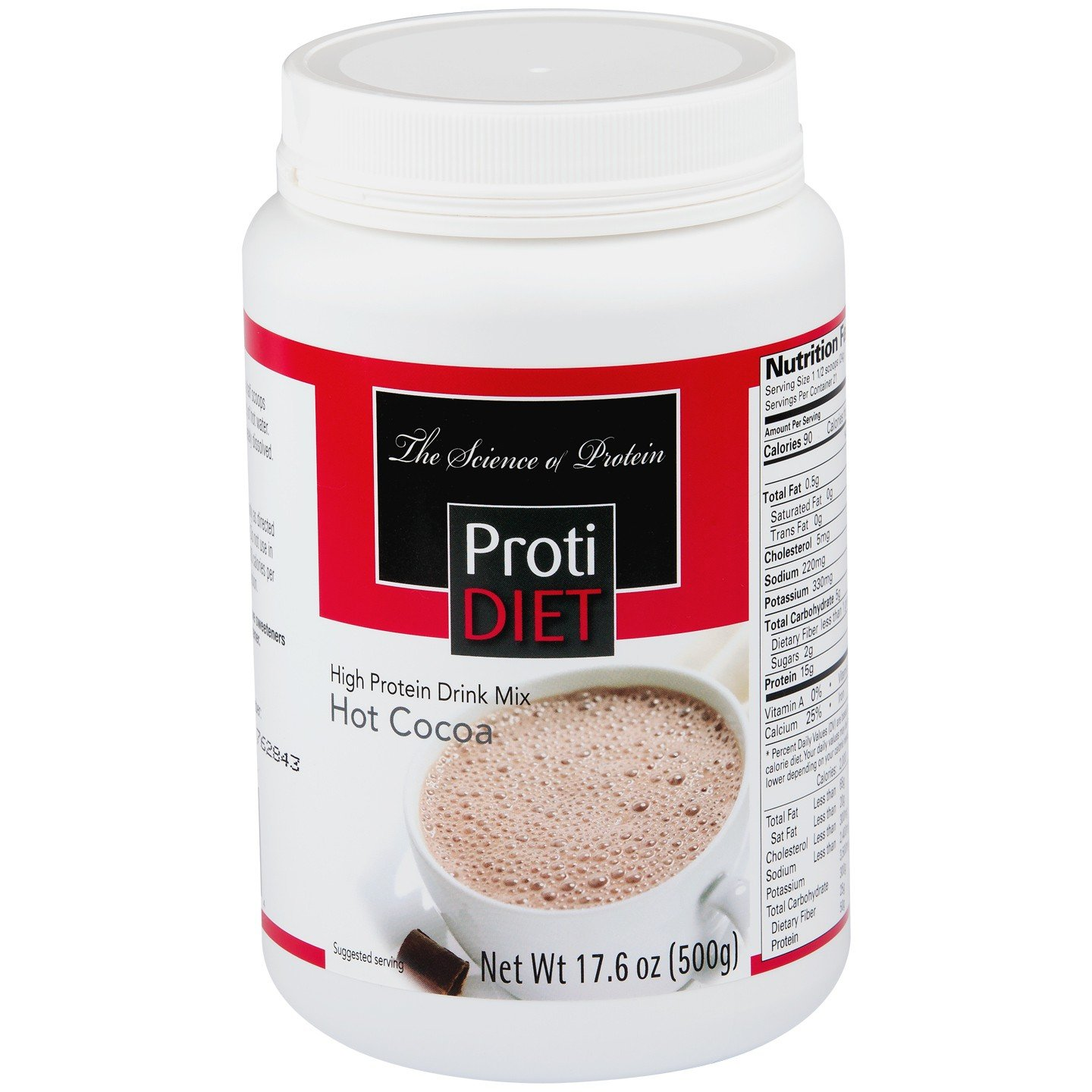 Amazon.com: Protidiet High Protein Hot Cocoa Drink Mix 17.6 oz ...