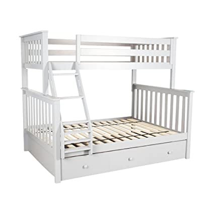 Amazon Com Plank Beam Solid Wood Bunk Bed With Trundle Twin Full