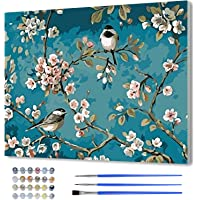 Paint by Number with Frame-DIY Digital Canvas Oil Painting Adults Kids Gift Kits with Wooden Frame Pre-Printed Canvas…