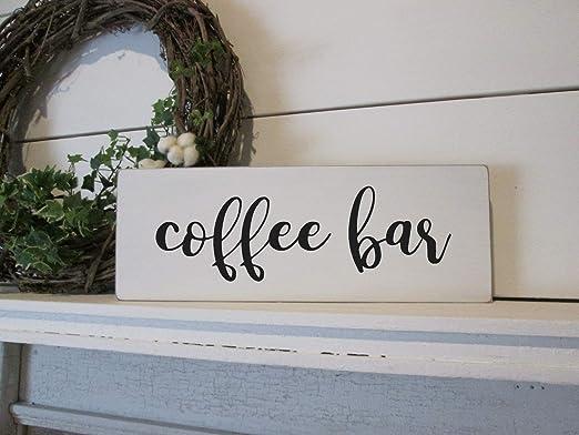 prz0vprz0v - Señal de Madera con Texto en inglés Coffee Bar ...