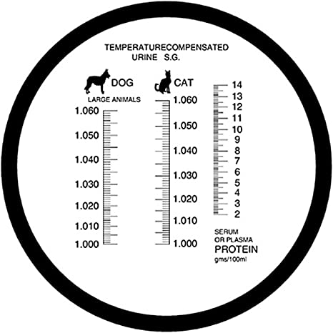 Mascota Perro y Gato refractómetro con ATC Sangre de proteína suero