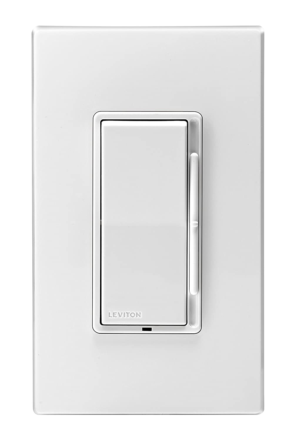 Leviton DSL06-1LZ Decora Universal Rocker Slide Dimmer, 300-Watt LED ...